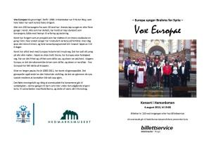 Vox program copy